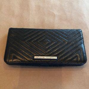 Rebecca Minkoff black quilted wallet